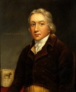Oil painting of Edward Jenner