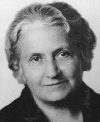 This is an image of Maria Montessori in her elder years.